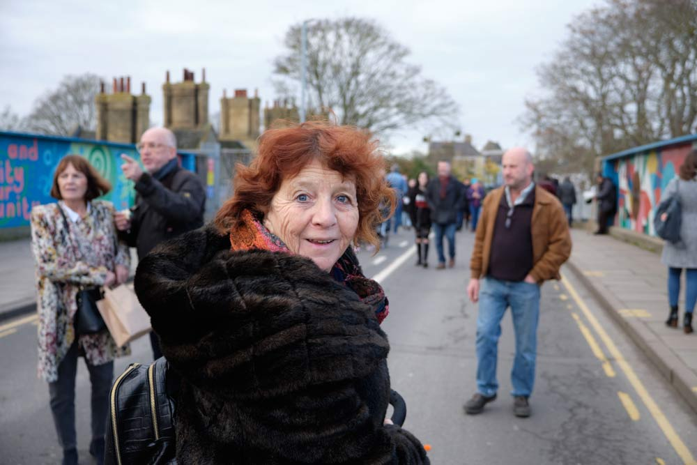 Woman at Cambridge Mill Road Winter Fair 2019